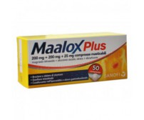 Maalox Plus 50 Compresse 200mg+200mg+25mg