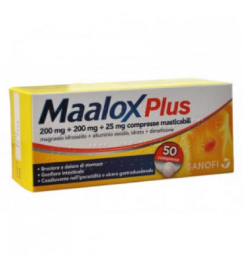 Maalox Plus 50 Compresse 200mg+200mg+25mg