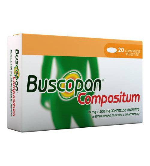 Buscopan Compositum 10mg+500mg 20 Compresse