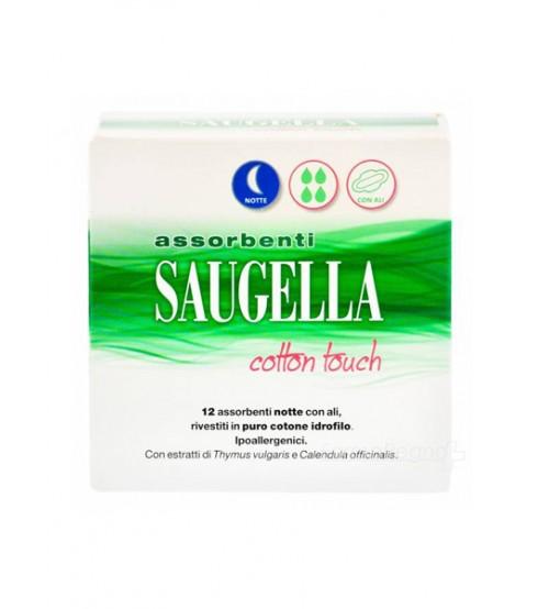 Saugella Cotton Touch Assorbenti Notte con ali