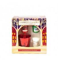 Porta candela natalizia e 3 votivi Yankee Candle