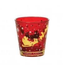 Porta candela votiva Santa Sleigh Yankee Candle