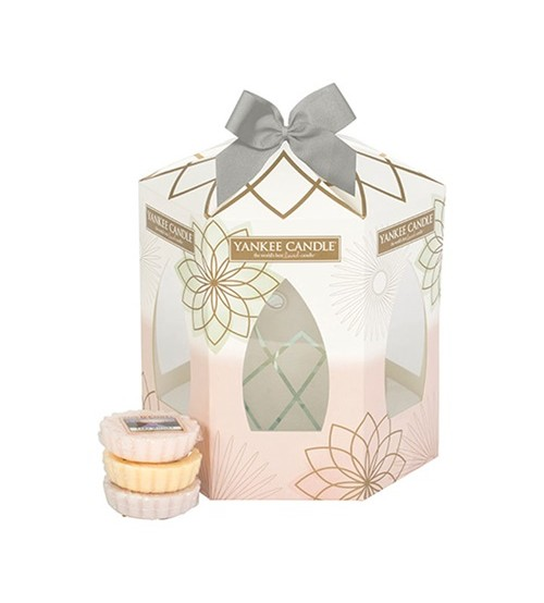 Yankee Candle Set My Serenity con bruciatore e 3 tart