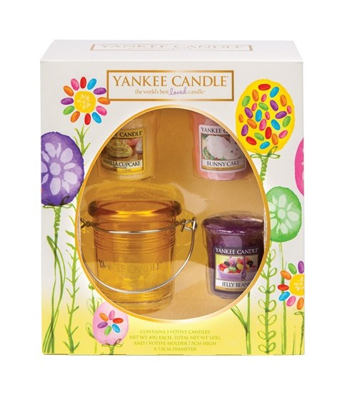 Yankee Candle Set Pasqua 3 Votivi + Porta Votivo